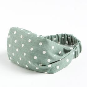 Косынка-повязка для девочки, цвет малахитовый, размер 50-54