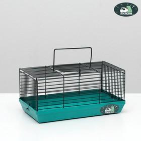 """Клетка-мини для грызунов """"Пижон"""" №1-1, без наполнения, 27 х 15 х 13 см, бирюзовая"""