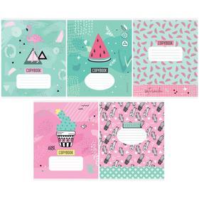 Тетрадь 48 листов в клетку Trendy art, обложка мелованный картон, блок офсет, МИКС