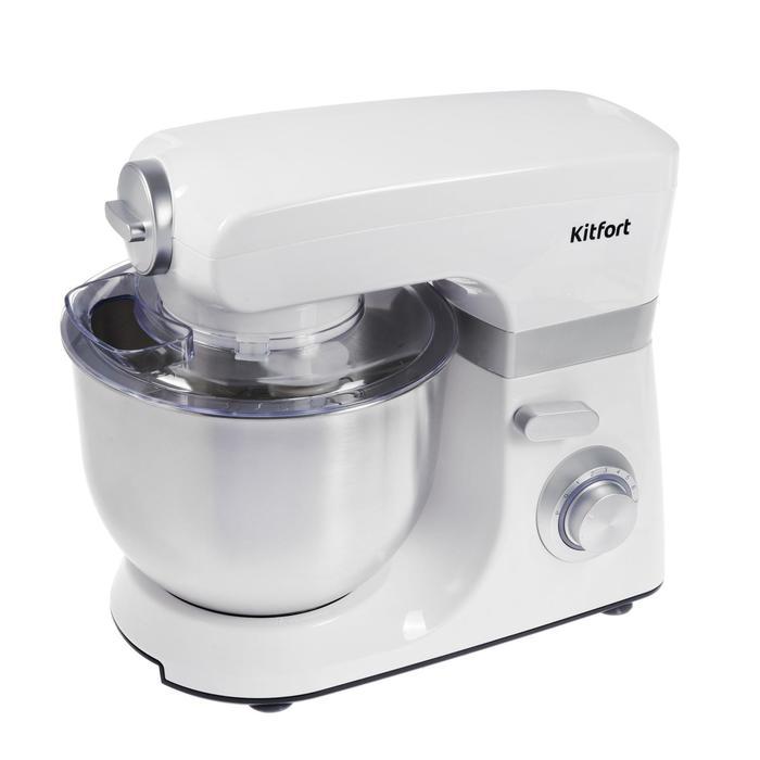 Миксер Kitfort КТ-1348-2, планетарный, 1200 Вт, 7 л, 8 скоростей, импульсный режим, белый - фото 3294418