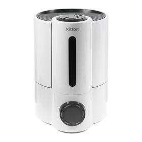 Увлажнитель воздуха Kitfort КТ-2801, ультразвуковой, 26 Вт, 3.5 л, 20 м2, ионизация, белый