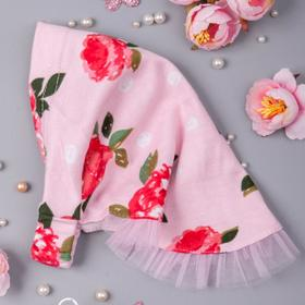 Косынка для девочки, цвет светло-розовый, размер 44-47 см (18 мес.)