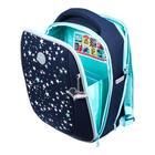 """Рюкзак каркасный Grizzly RAf-192, 39 х 30 х 18, для девочки """"Звёзды"""", синий - фото 832124"""