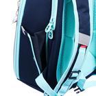 """Рюкзак каркасный Grizzly RAf-192, 39 х 30 х 18, для девочки """"Звёзды"""", синий - фото 832121"""