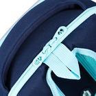 """Рюкзак каркасный Grizzly RAf-192, 39 х 30 х 18, для девочки """"Звёзды"""", синий - фото 832122"""