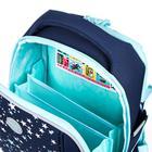 """Рюкзак каркасный Grizzly RAf-192, 39 х 30 х 18, для девочки """"Звёзды"""", синий - фото 832123"""