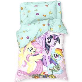 Постельное белье 1,5 сп «Pony team» My Little Pony 143*215 см, 150*214 см, 50*70 см -1 шт