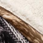 Плед Милана рис.G-03-2 180х220см, иск мех, 400 г/м пэ100% - фото 832776