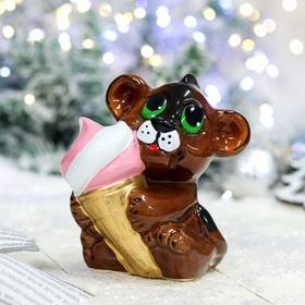 """Копилка """"Тигрёнок с мороженым"""", 13 см, микс в Донецке"""