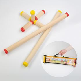 "Игра ""Городки"", берёза, d=3.5 см, 3 см, l=10.8 см, 56.3 см, чехол микс"