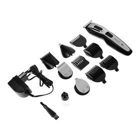 Набор для стрижки и бритья 5 в 1 DELTA LUX DE-4201A, 3 Вт, 5 насадок, черный