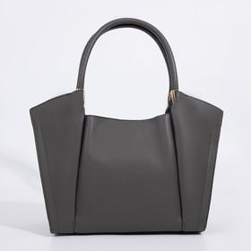 Сумка-тоут, отдел на молнии, 2 наружных кармана, длинный ремень, цвет чёрный