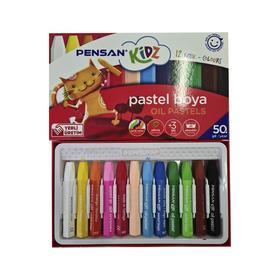 Пастель масляная детская 12цв PENSAN Kidz, шестиграная, пастель