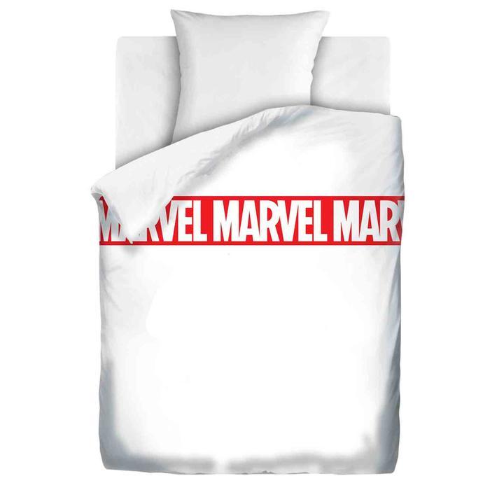 Постельное бельё 1,5 сп «Мстители» White Marvel 143х215, 150х214, 70х70 см - фото 894689