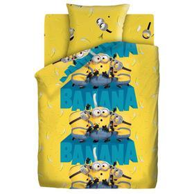 Постельное бельё 1.5 сп «Миньоны 2» Банана 143х215 см, 150х214 см, 70х70 см