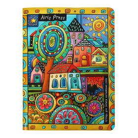 """Тетрадь для записи английских слов 32 листа """"Цветочная поляна"""", обложка мелованный картон, глянцевая ламинация"""