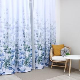 """Комплект штор """"Этель"""" Eucalyptus, 145*260 см-2 шт, 100% п/э"""