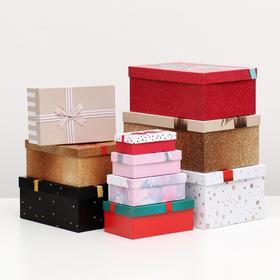 """Набор коробок 10 в 1 """"Банты"""", 30,5 х 20 х 13 - 12 х 6,5 х 4 см"""