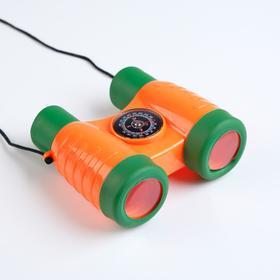 2x binoculars, with compass