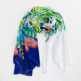 Парео текстильное BS 1643_P(11-1) цвет синий/белый, р-р 95х155 Ош