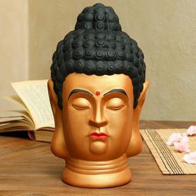 """Копилка """"Голова Будды"""" золотого цвета"""