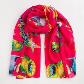 Парео текстильное BS 1643_P(17) цвет красный, р-р 95х155 Ош