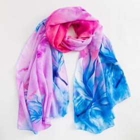 Парео текстильное BS 1643_P(18-1) цвет розовый/голубой, р-р 95х155 Ош