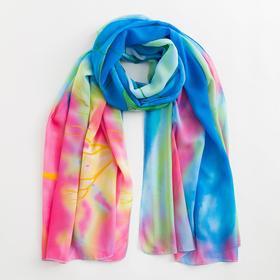Парео текстильное BS 1643_P(22) цвет голубой/розовый, р-р 95х155 Ош