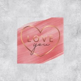 Набор виниловых наклеек «Люблю тебя», 5 шт, 5 × 5 см