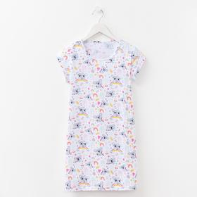 Сорочка для девочки, цвет белый/коала, рост 116 см