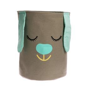 Корзина для хранения игрушек «Зайка» бирюзовый, 40×40×50 см