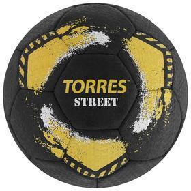 Мяч футбольный TORRES Street, размер 5, 32 панели, резина, 4 подкладочных слоя, ручная сшивка, цвет чёрный/жёлтый