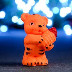 """Мыло фигурное """"Тигрёнок с мороженым"""" оранжевый, 55гр"""