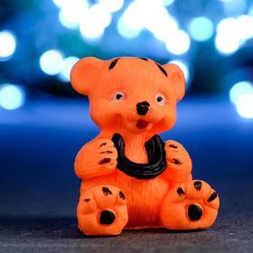 """Мыло фигурное """"Тигрёнок с подковой"""" оранжевый. 65гр"""