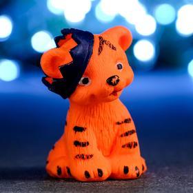 """Мыло фигурное """"Тигрёнок в короне"""" оранжевый, 65гр"""