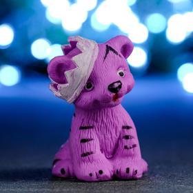 """Мыло фигурное """"Тигрёнок в короне"""" фиолетовый, 65гр"""