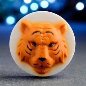 """Мыло фигурное """"Тигр Раджа"""" оранжевый на белом, 90гр"""