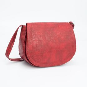 Сумка-мессенджер Медведково, отдел на клапане, наружный карман, регулируемый ремень, цвет красный