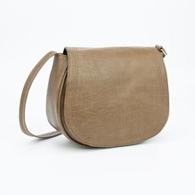 Сумка-мессенджер Медведково, отдел на клапане, наружный карман, регулируемый ремень, цвет коричневый