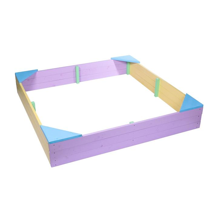 Песочница деревянная без крышки, 180 × 180 × 27 см, цветная, «Стюарт-2» - фото 314333924