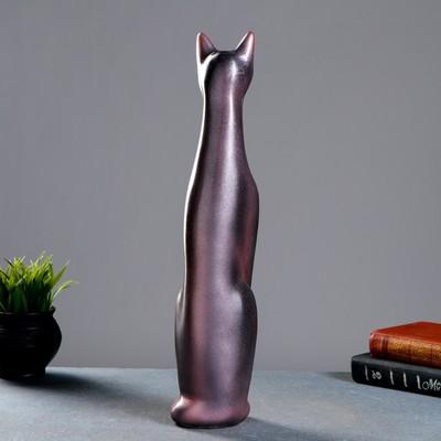 "Фигура ""Кошка Египетская"" 11х9х47 см черн/жемчуг"
