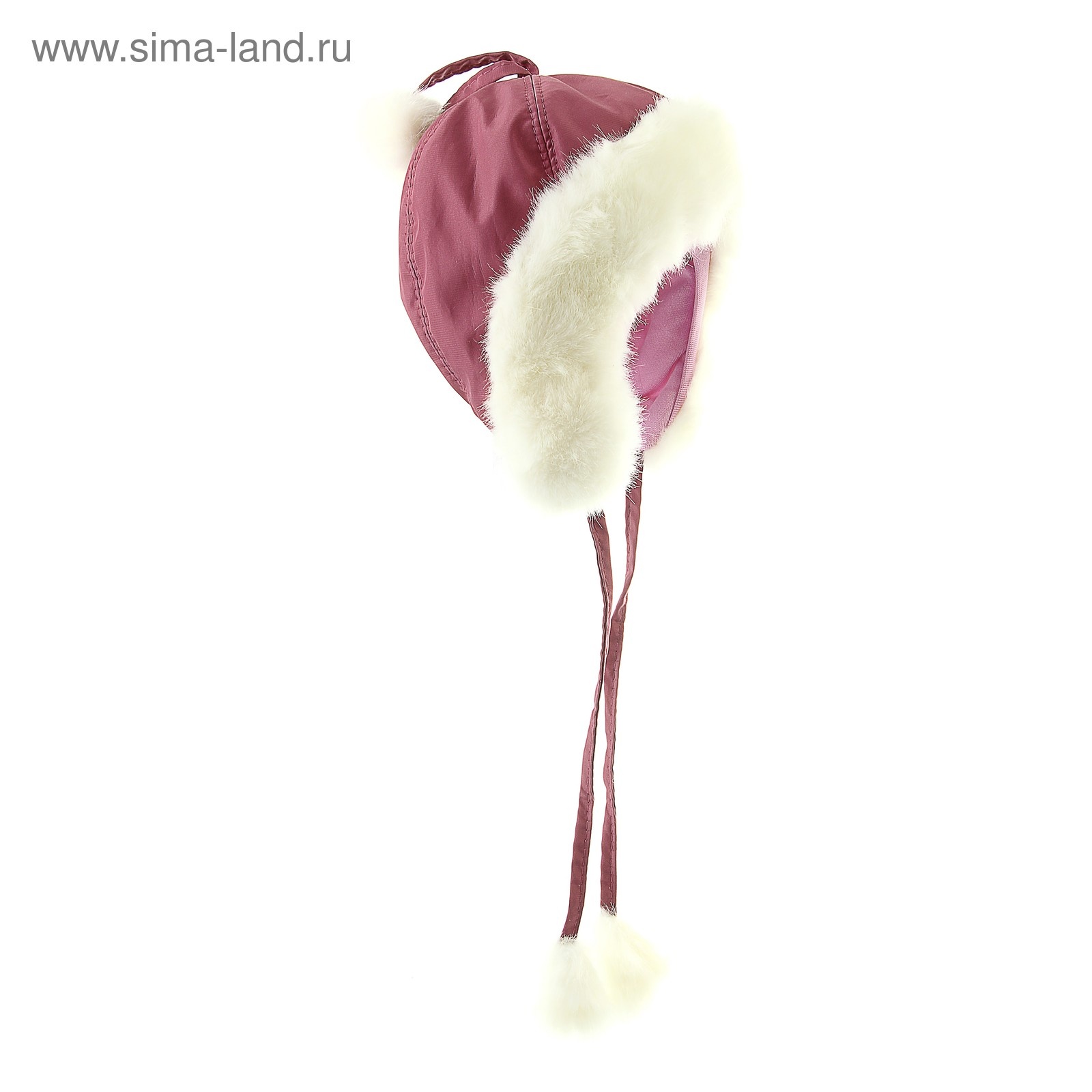 Грязно-розовый цвет шапки