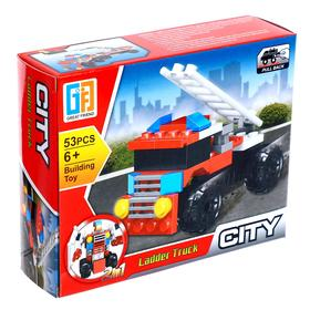 Конструктор город «Пожарный транспорт» 53 детали