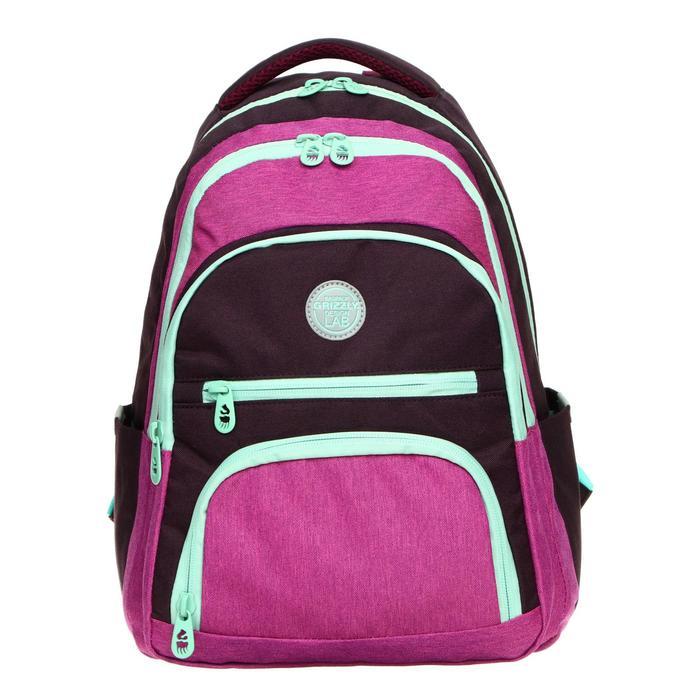 Рюкзак молодежный эргоном.спинка Grizzly RD-140 39*30*20 дев, фиолетовый RD-140-1_1 - фото 835818