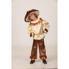 """Карнавальный костюм """"Гриб """"Добрый"""", сорочка, брюки, головной убор, р.28, рост 110 см"""