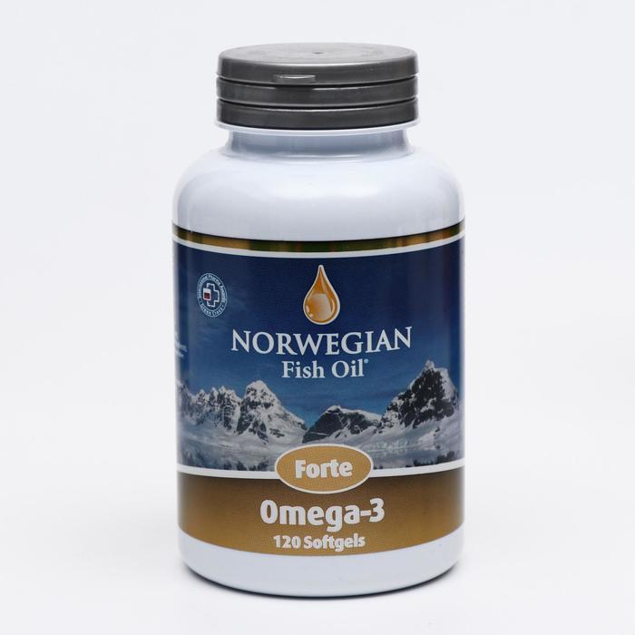 Norwegian Fish Oil Омега-3 Форте, 120 капсул по 1384 мг - фото 314336785