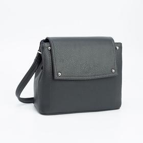 Сумка-мессенджер Медведково, отдел на клапане, наружный карман, длинный ремень, цвет хаки