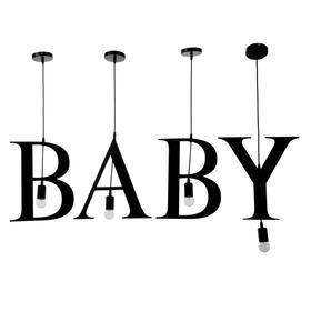 """Светильник подвесной """"BABY"""" 4х40Вт E27 черный"""
