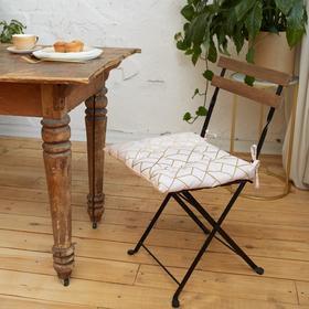 Сидушка на стул Этель «Сетка» 42х42см, репс,пл.130 г/м², 100% хлопок