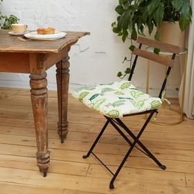 """Сидушка на стул Этель """"Кактусы""""  42х42см, репс,пл.130 г/м², 100% хлопок"""